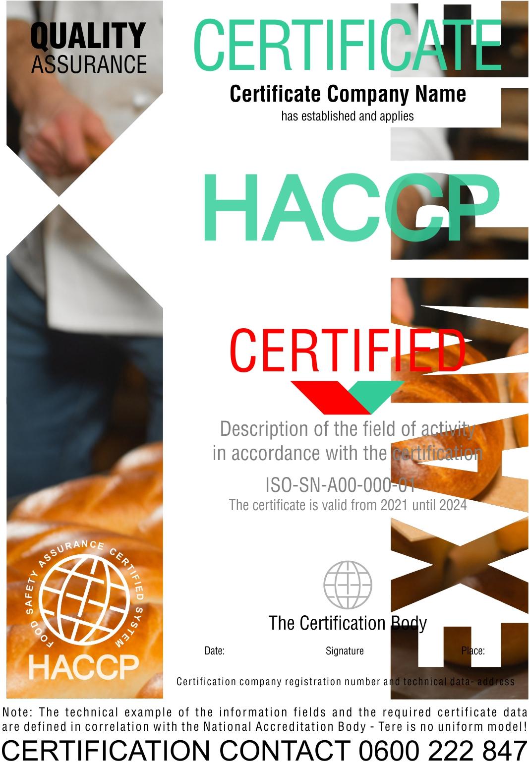 Sertifikacija HACCP