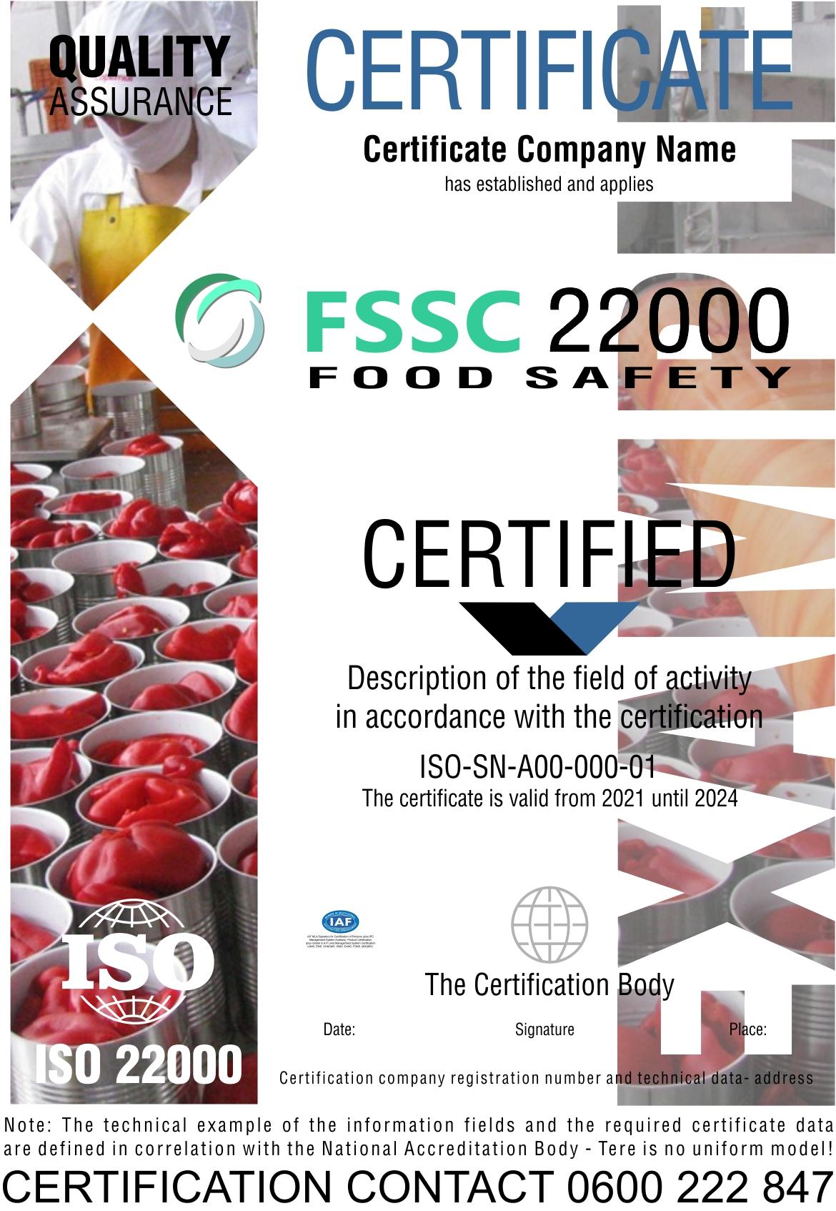 Sertifikacija FSSC 22000