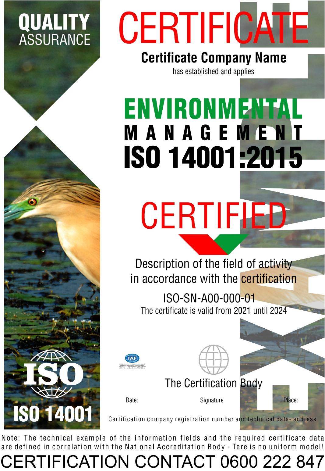 Sertifikacija ISO 14001