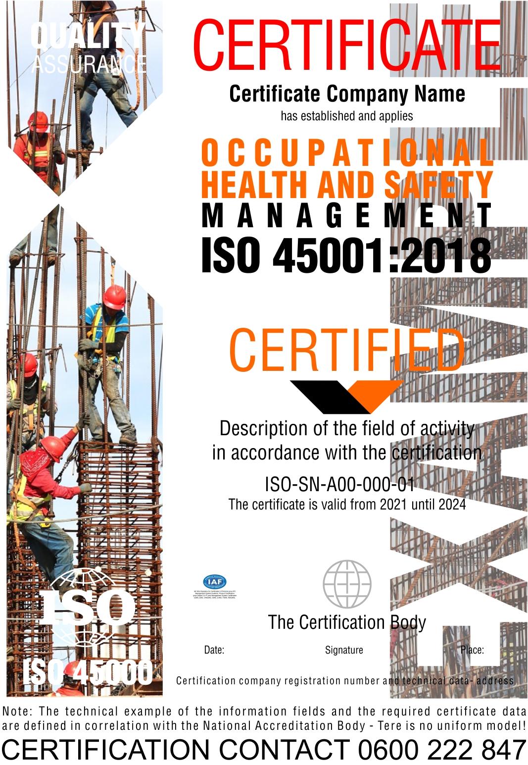 Sertifikacija ISO 45001