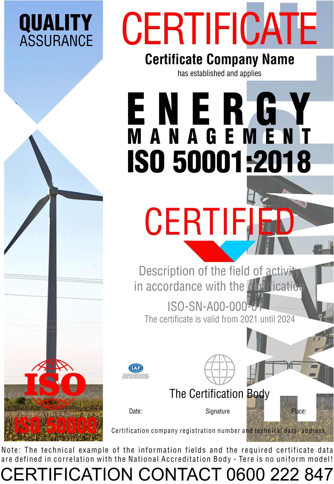 Sertifikacija ISO 50001